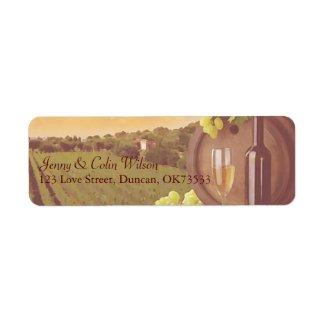 Vintage Retro Vineyard Sunset Wedding Address