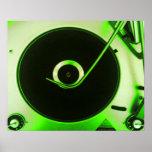 Vintage Retro Vinyl Record Player Print