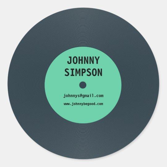 Vinyl Template | Vintage Retro Vinyl Record Text Template Sticker Zazzle Com