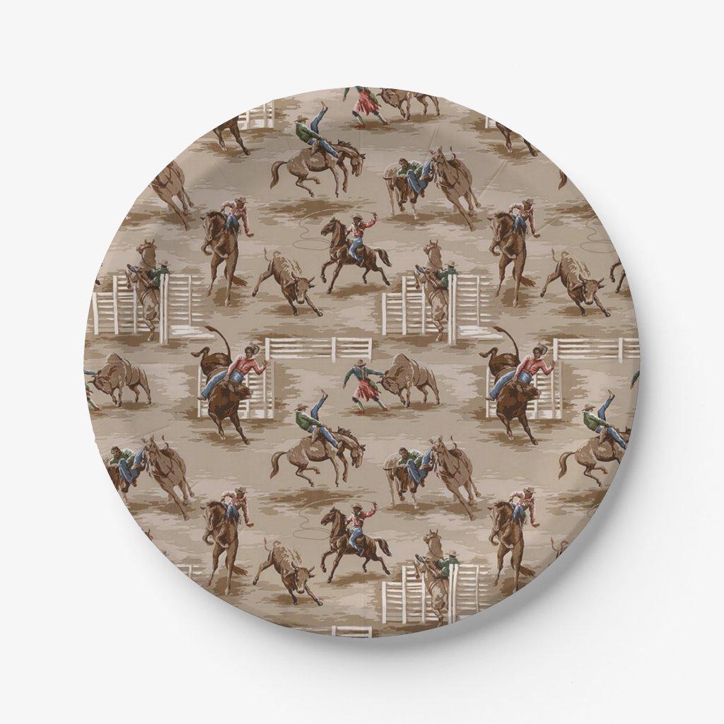 Cowboy / Western Paper Plates  sc 1 st  CowboyWay.com & Cowboy Paper Plates On Zazzle