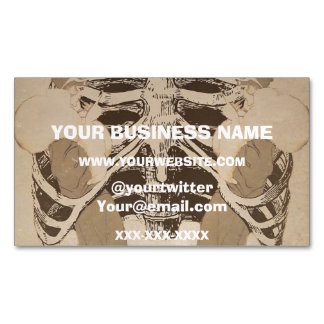 Vintage Retro Woman Ribs Business Card Magnet
