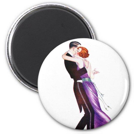 Vintage Retro Woman Women Deco Dancers Magnet
