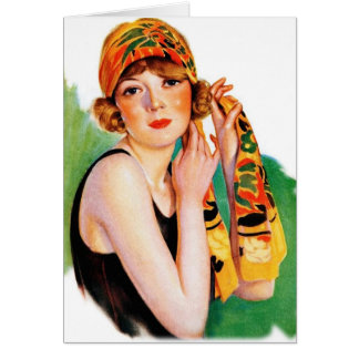 Vintage Retro Women 20s Deco Flapper Girl Pin Up Cards
