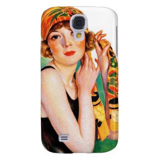 Vintage Retro Women 20s Deco Flapper Girl Pin Up Samsung Galaxy S4 Case