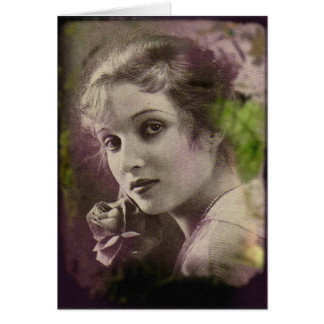 Vintage Retro Women 20s Hollywood Alice Joyce Card