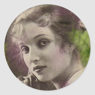 Vintage Retro Women 20s Hollywood Alice Joyce Classic Round Sticker