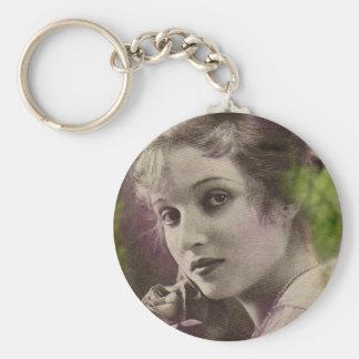 Vintage Retro Women 20s Hollywood Alice Joyce Keychain