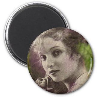 Vintage Retro Women 20s Hollywood Alice Joyce 2 Inch Round Magnet