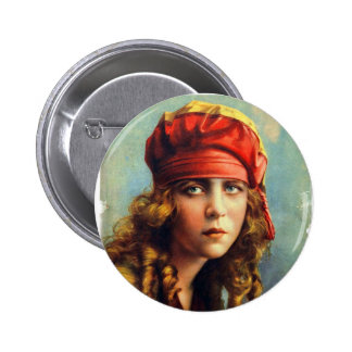 Vintage Retro Women 20s Hollywood June Caprice Button