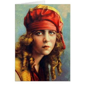 Vintage Retro Women 20s Hollywood June Caprice Card