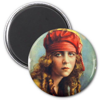 Vintage Retro Women 20s Hollywood June Caprice 2 Inch Round Magnet