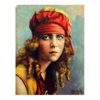 Vintage Retro Women 20s Hollywood June Caprice Postcard
