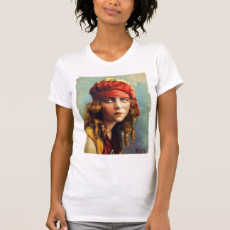 Vintage Retro Women 20s Hollywood June Caprice T-Shirt