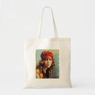 Vintage Retro Women 20s Hollywood June Caprice Tote Bag