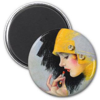 Vintage Retro Women 20s Hollywood Lipstick Girl Magnet