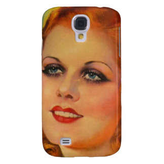 Vintage Retro Women 20s Movie Star Cover Girl Galaxy S4 Cover
