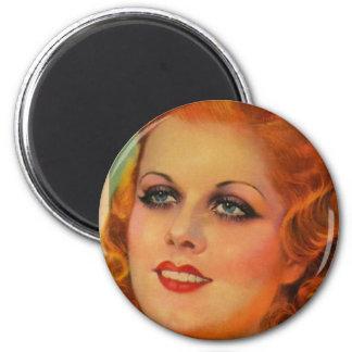 Vintage Retro Women 20s Movie Star Cover Girl Magnet