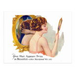 Vintage Retro Women 20s Woman's Shampoo Ad Art Postcard