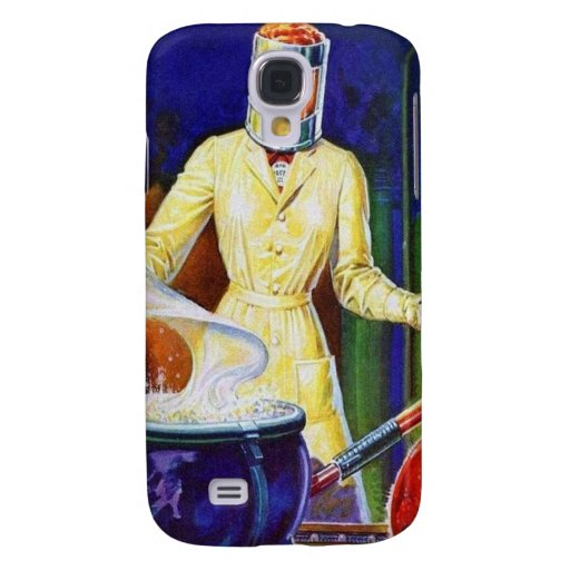 Vintage Retro Women 30s Pulp Lady Women Scientist Samsung Galaxy S4 Covers