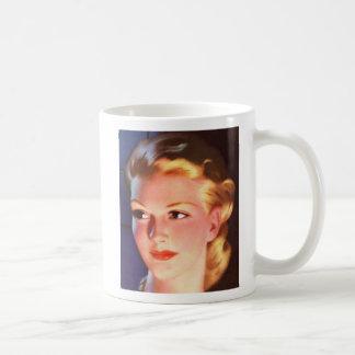 Vintage Retro Women 30s Woman's Ad Portrait Coffee Mug