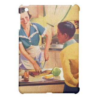 Vintage Retro Women 40s Donut Deception Lunch Mom iPad Mini Cases