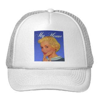 Vintage Retro Women 40s Housewife My House Trucker Hat