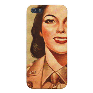 Vintage Retro Women 40s Military Woman WAAC Case For iPhone SE/5/5s