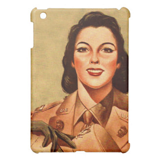 Vintage Retro Women 40s Military Woman WAAC iPad Mini Covers
