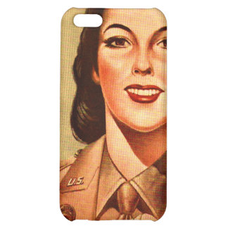 Vintage Retro Women 40s Military Woman WAAC Case For iPhone 5C