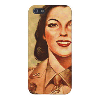 Vintage Retro Women 40s Military Woman WAAC Covers For iPhone 5