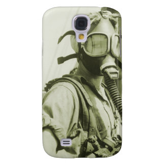 Vintage Retro Women 40s WW2 Military Gas Masks Galaxy S4 Covers