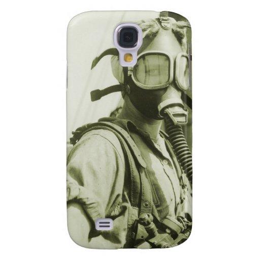 Vintage Retro Women 40s WW2 Military Gas Masks Galaxy S4 Covers