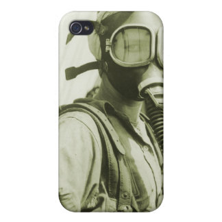 Vintage Retro Women 40s WW2 Military Gas Masks Covers For iPhone 4