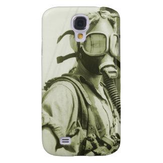 Vintage Retro Women 40s WW2 Military Gas Masks Galaxy S4 Cover