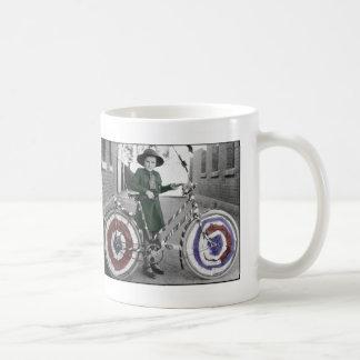 Vintage Retro Women 4th of July Girl Scout & Bike Coffee Mug