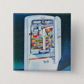 Vintage Retro Women 50s Kitchen Refrigerator Pinback Button