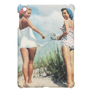 Vintage Retro Women 60s Surfing Beach Girls iPad Mini Cover