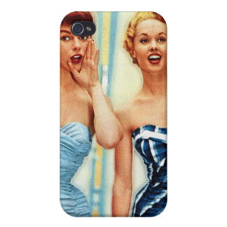 Vintage Retro Women 60s Swimwear Surfs Up! iPhone 4 Cover