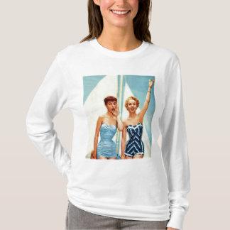 Vintage Retro Women 60s Swimwear Surfs Up! T-Shirt