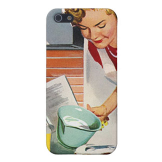 Vintage Retro Women Ad Let's Bake a Cake Cover For iPhone SE/5/5s