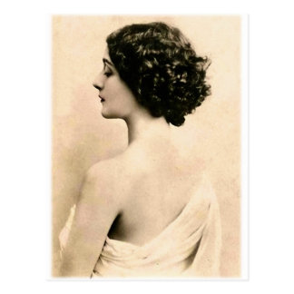 Vintage Retro Women Art Photography Young Woman Postcard