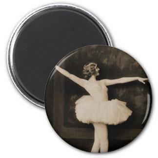 Vintage Retro Women Ballet Dancer Woman 2 Inch Round Magnet