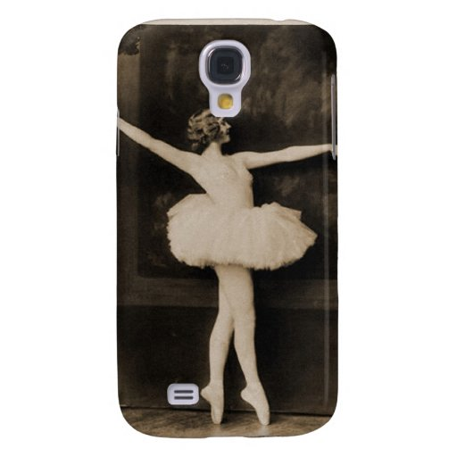 Vintage Retro Women Ballet Dancer Woman Galaxy S4 Cover