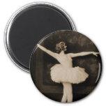 Vintage Retro Women Ballet Dancer Woman Fridge Magnet