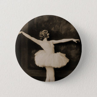 Vintage Retro Women Ballet Dancer Woman Pinback Button