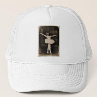 Vintage Retro Women Ballet Dancer Woman Trucker Hat