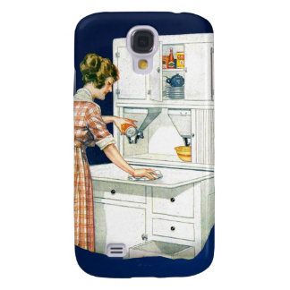Vintage Retro Women Cleaning Stove With Cleanser Galaxy S4 Case