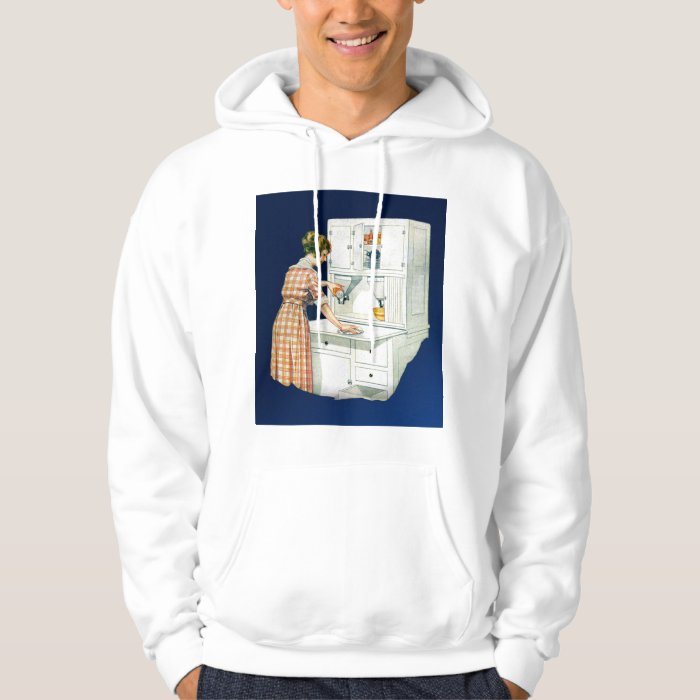 Vintage Retro Women Cleaning Stove With Cleanser Hoodie