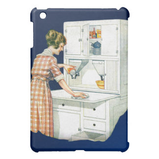 Vintage Retro Women Cleaning Stove With Cleanser Cover For The iPad Mini