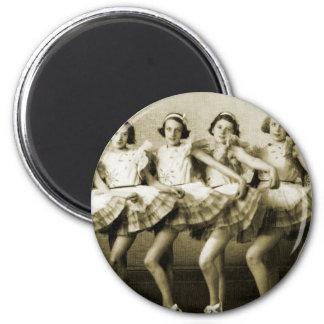 Vintage Retro Women Dancing Queens Girls 2 Inch Round Magnet